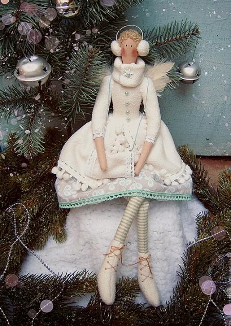 Тильда-ангел фигуристка Рита 42 см