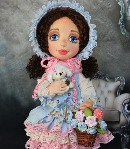 Коллекционная кукла Настеньки 42 см