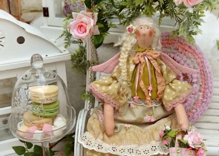 Весенняя тильда-ангел Глория 45 см