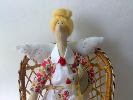 Аглая с гусиком - фея домашнего уюта 40 см