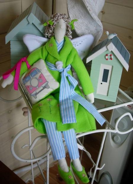 Тильда-ангел Camper Van 42 см