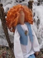 Тильда Иришка с рыжими кудряшками 47 см