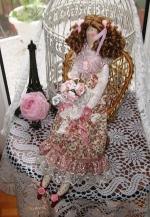 Тильда Вивьен в стиле шебби 48 см