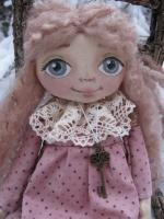 Анечка в розовом платье 28 см