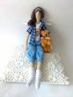 Челси с другом - тильда-ангел современных девушек 38 см