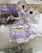 Тильда-ангел Лавандина 45 см