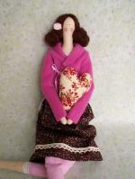 Тильда Кармелита в розовом жакетике 52 см