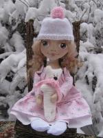 Лиза в розовом с мишкой 33 см