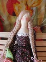 Тильда Василиса с цветком 52 см