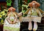 Тильда-ангел Дорофея или тильда-фея домашнего уюта 45 см