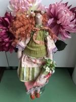 Весенняя тильда-ангел Мила 45 см