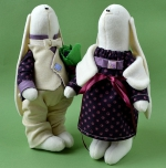 Парочка важных заек Анри и Луиза 23 см