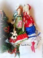 Новогодняя козочка Татьяна 50 см