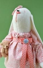 Зайка Малышка с мишкой 23 см