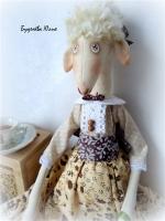 Тильда овечка кофейница Ирина 50 см