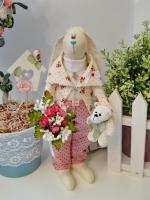 Эмиль - праздничный зайка в стиле Прованс 30 см