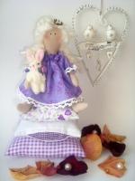 Принцесса на горошине Эльза с зайкой 28 см