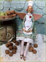 Тильда-фея Пирожных (Любительница сладкого) 50 см