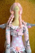 Тильда Ангел розовых снов Ульяна 55 см