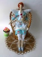 Мелисса с гусиком - фея домашнего уюта 40см