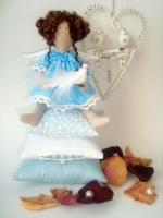 Принцесса на горошине Наденька с птичкой 28 см