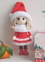 Новогодняя кукла София 25 см