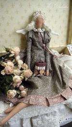 Тильда Фея утреннего латте Бланш с белыми крыльями 47 см