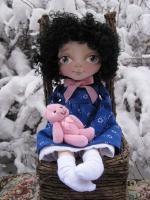 Джудит с розовым мишкой 34 см