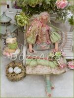 Весенняя тильда-ангел Ульяна 45 см