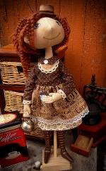 Амели. Любительница кофе и шоколада! 45 см