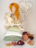 Принцесса на горошине Злата с мишкой 28 см