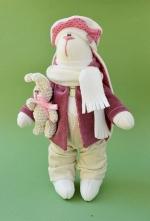 Зайка Кимберли с игрушкой 23 см
